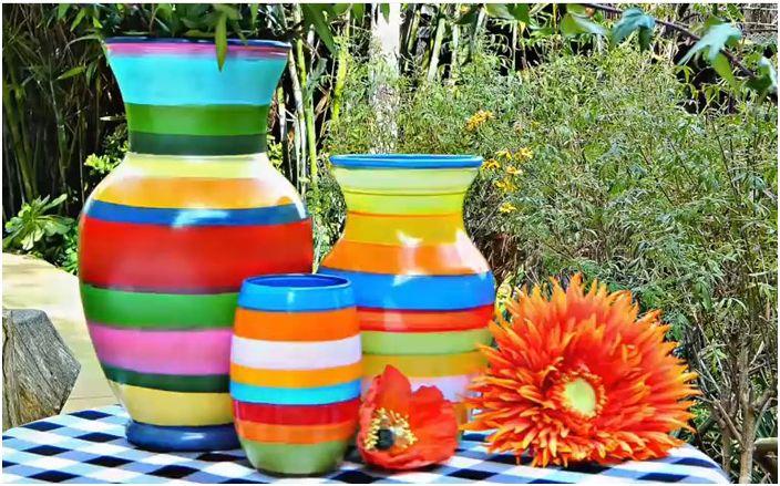 Цветна есен в интериора: направете си ярки вази