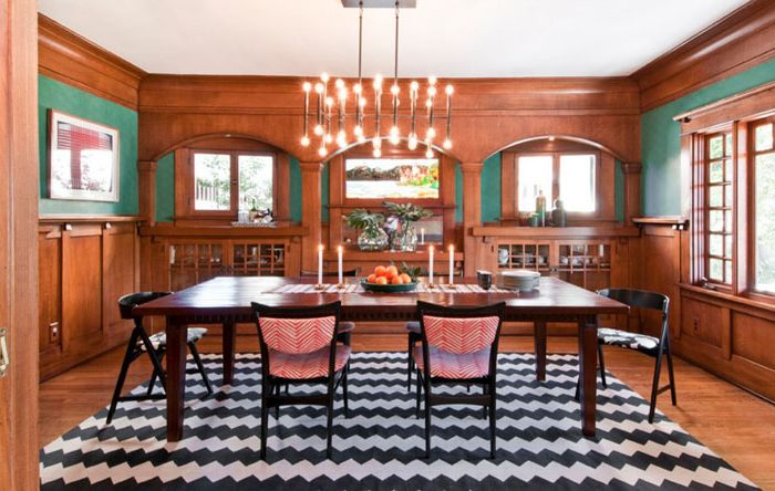 Wnętrze jadalni autorstwa Taylor Jacobson Interior Design