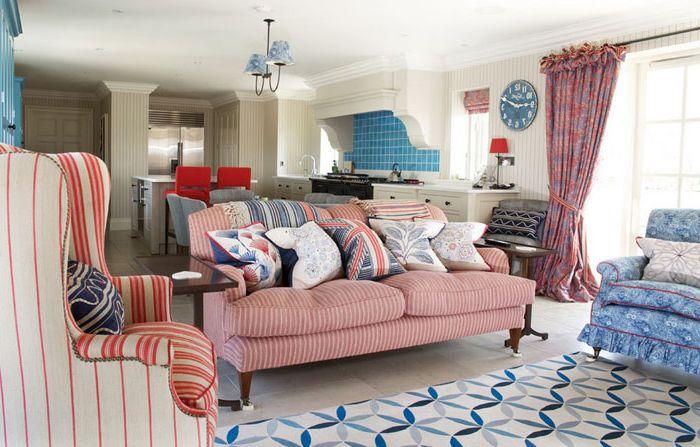 Wnętrze salonu zaprojektowane przez Fiona Watkins Design Limited