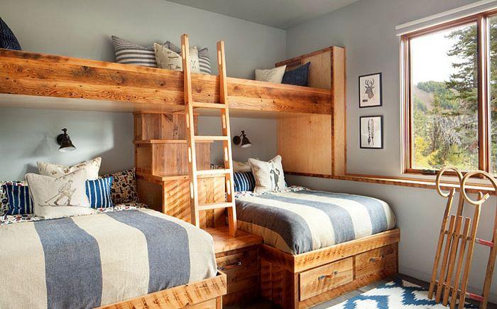 Спалня в сиво-сини цветове