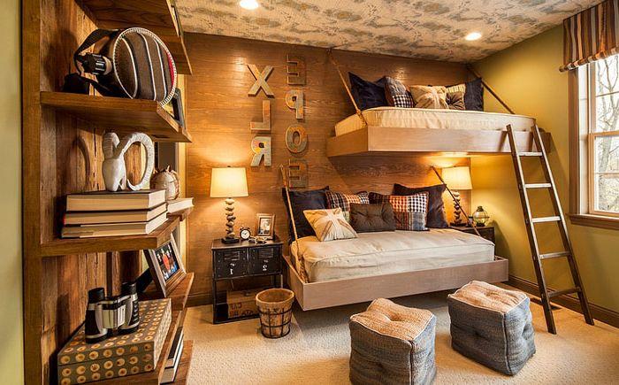 Висящи легла в детската спалня от Мери Кук