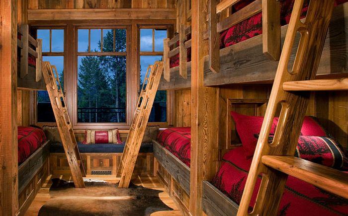 Спалня в стил шале