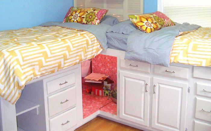 Легло от кухненски шкафове
