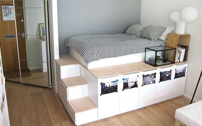 Легло с платформа