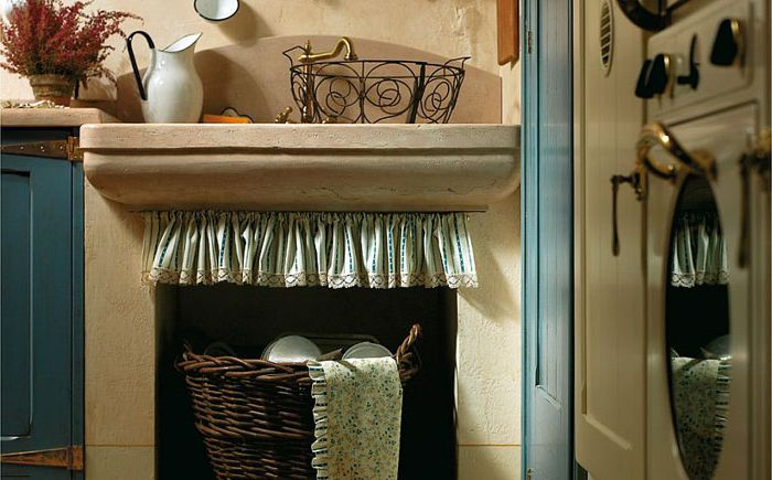 Fabric curtains add a special charm