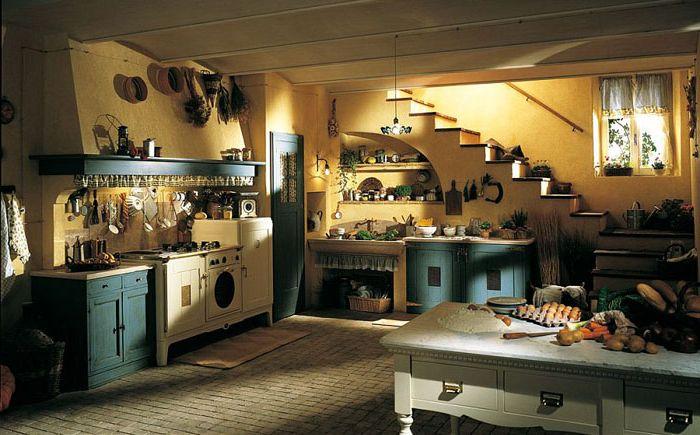 Delicate pastel kitchen colors