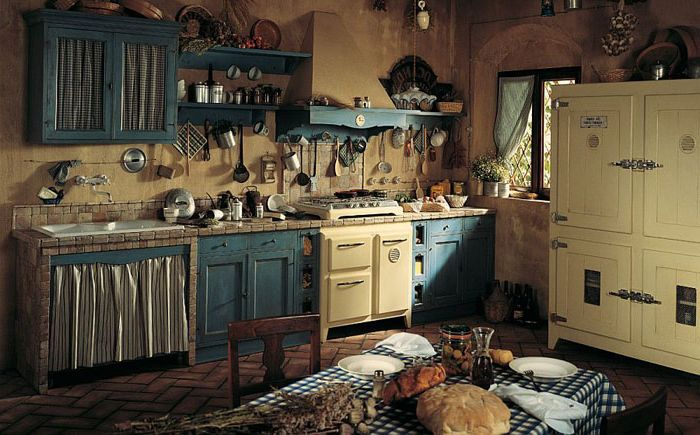 The charm of contrasting kitchen textures