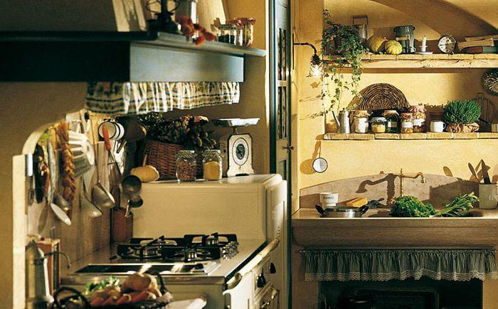Maximum natural materials in Doria's kitchen