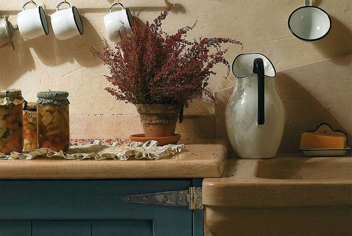 Stone sink and countertop