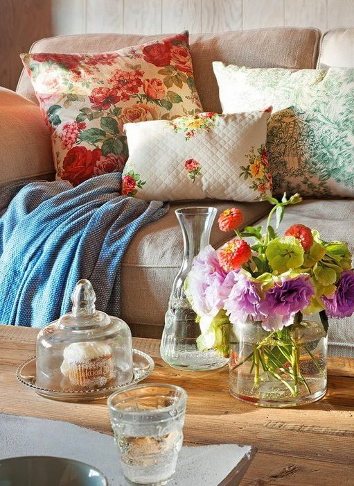 Цветя като елемент на декора