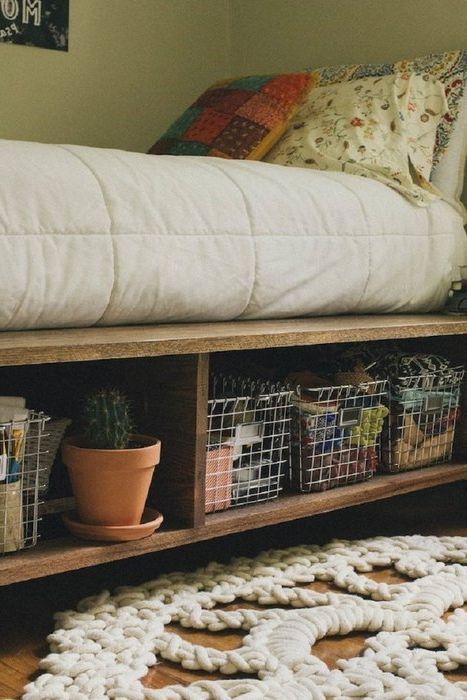 Съхранение на нещата под леглото