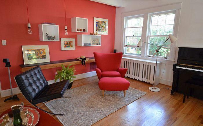 Red Living Room by Nicole Lanteri