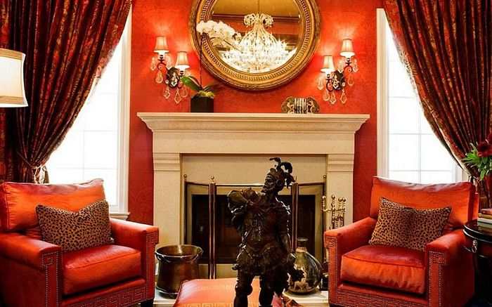 The Luxury of Red in the Living Room by Tracy Murdock Allied