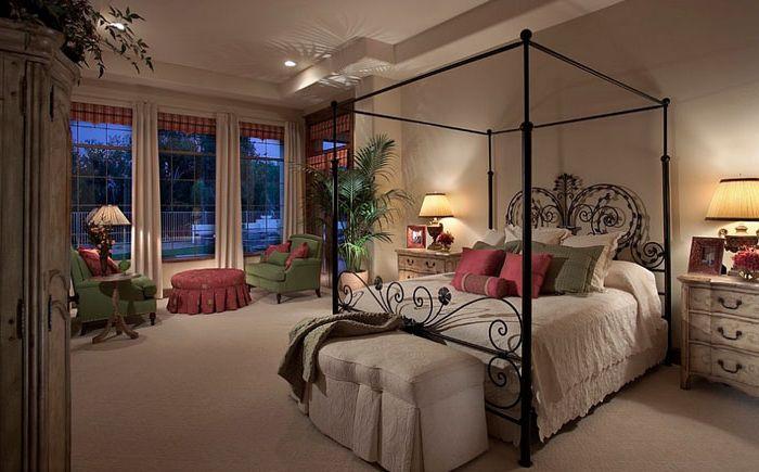 Роскошная спальня в средиземноморском стиле
