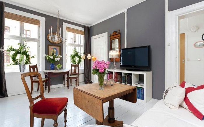 Малък апартамент в скандинавски стил: красив и удобен