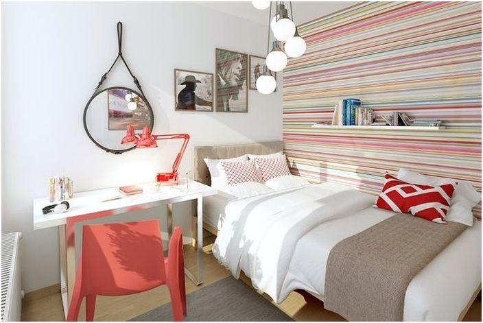 Малка скандинавска спалня
