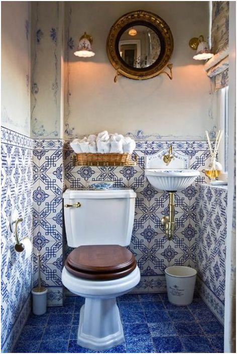 9. Интериор на малка баня в марокански стил