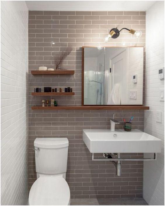 12. Отворете рафтовете в малка баня