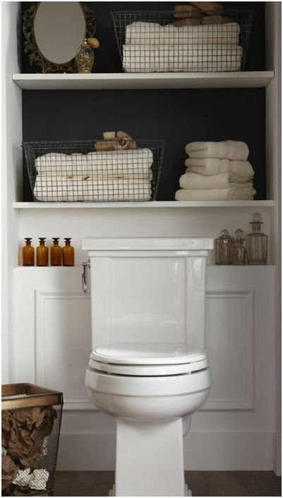 13. Системи за съхранение в малка баня