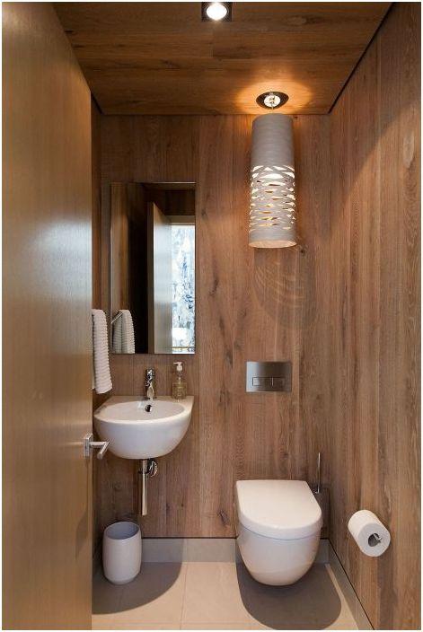 7. Интериорът на банята в еко-стил