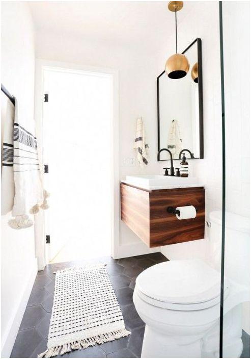 8. Интериор на малка баня в скандинавския стил