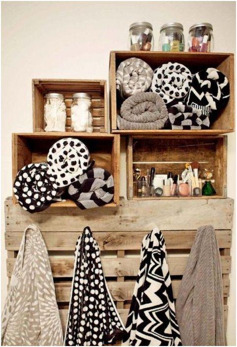 16. Съхранение на кърпи в банята