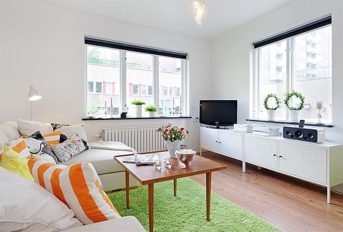 Приятни цветове в малък апартамент