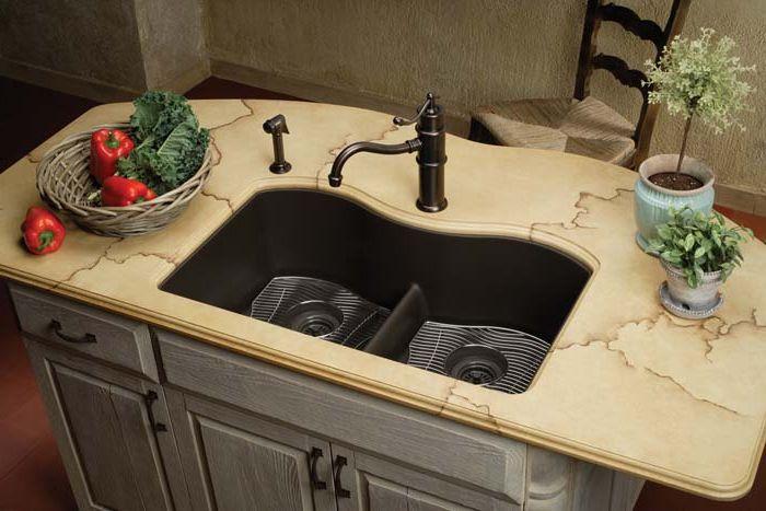 Комбинирана гранитна мивка