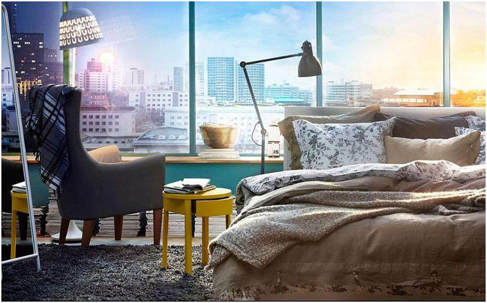 Мебели от магазини за тухли и хоросани: 25 сладки интериора за спалня на достъпни цени