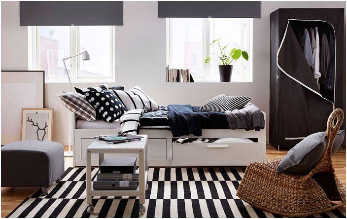 Спалня в скандинавски стил с гардероб BREIM