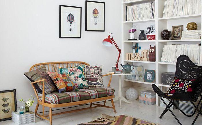 Весёлая гостиная в скандинавском стиле от Elkie Brown