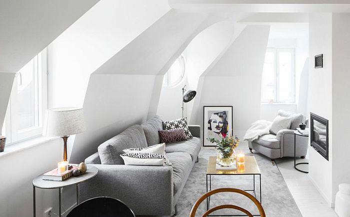 Стилна скандинавска всекидневна от Philippe Demougeot