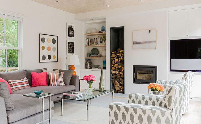Интериор на всекидневната в скандинавски стил от Terrat Elms Interior Design