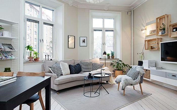 Небольшая гостиная в скандинавском стиле