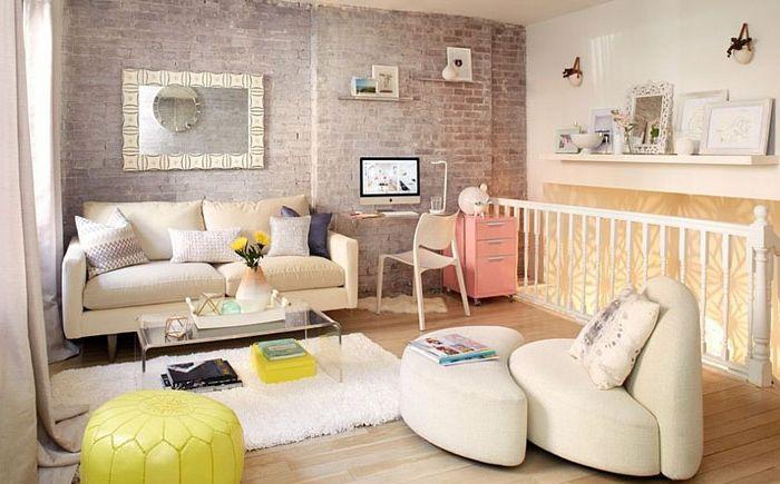 Интерьер гостиной в скандинавском стиле от Tara Benet Design