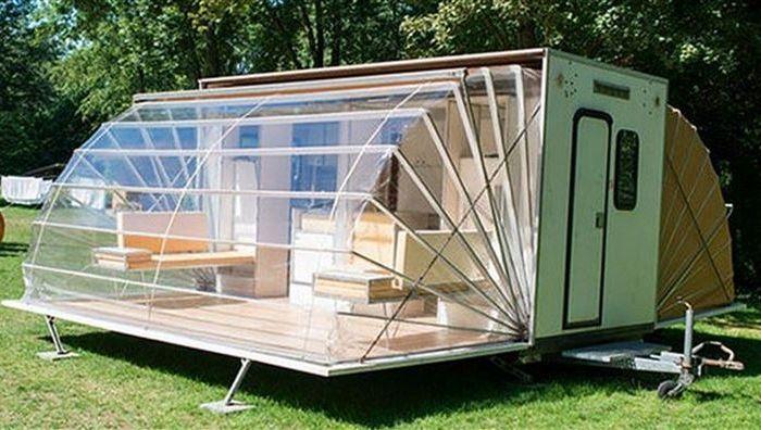 Раскладной дом-прицеп для походов «De Markies».