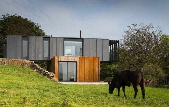 Контейнерна къща в Северна Ирландия.
