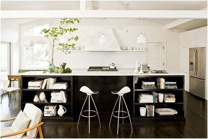 Svart og hvitt kjøkken av Jessica Helgerson Interior Design