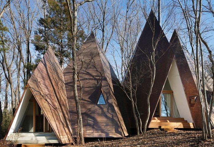Nasu Tepee е селска къща с форма на палатка.