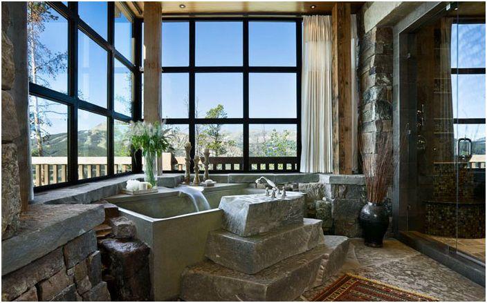 Интерьер ванной от locati architects