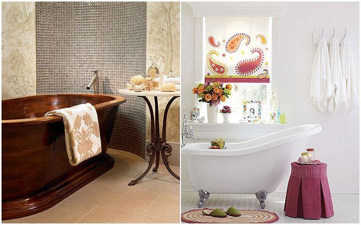 Odrobina luksusu: 30 wspaniałych stolików bocznych w łazienkach