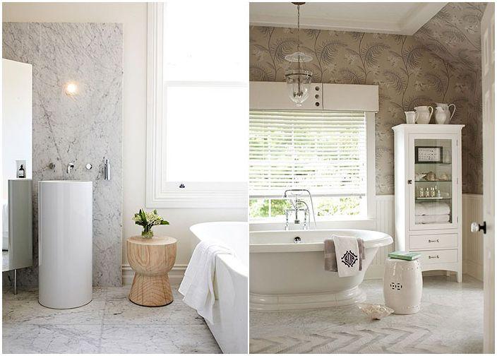 Маса за баня от дърво и керамика