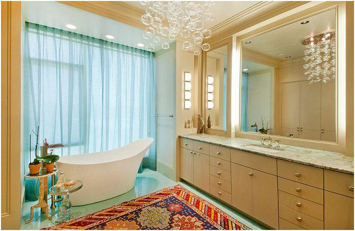 Wnętrze łazienki autorstwa Bruce Frasier Architects