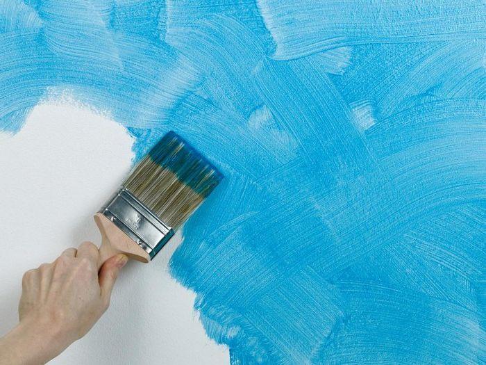 Метод номер 9. Случайно нанасяне на лепилна боя