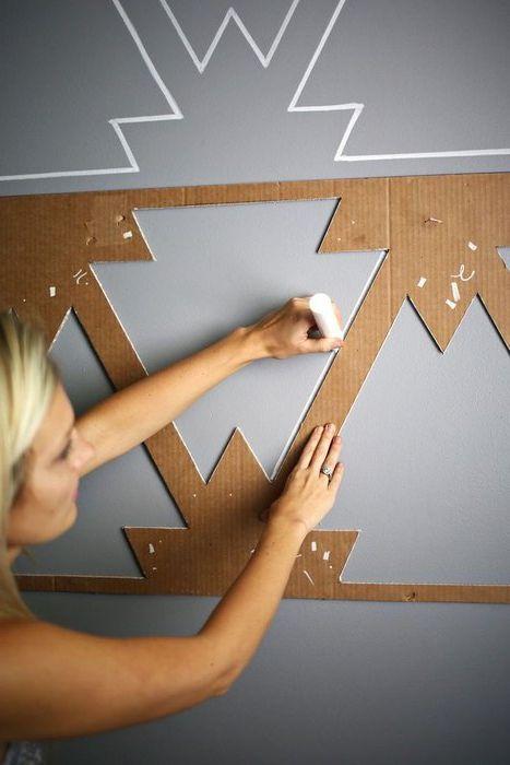 Метод номер 17. Шаблон за декор на стени