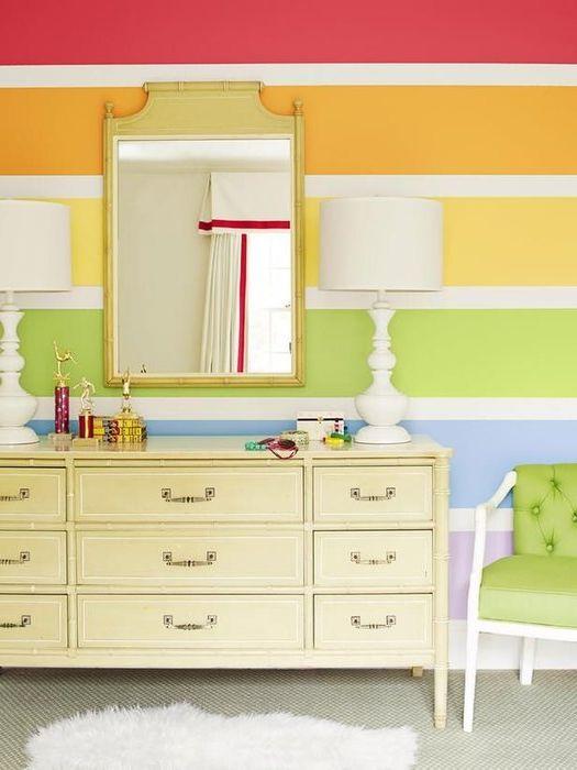 Способ №1. Разноцветные стены