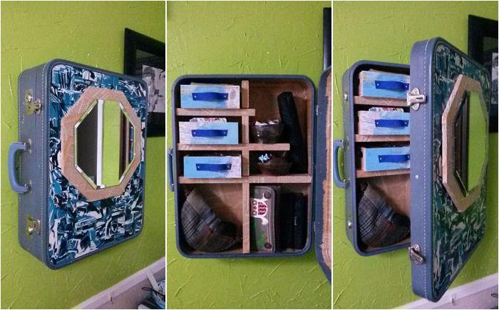 Използване на стар куфар: Направи си шкафче