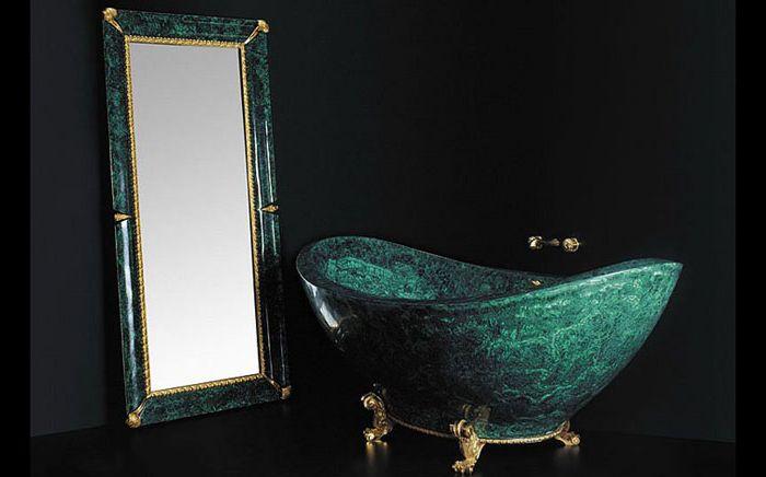 Ексклузивната вана за малахит на Балди