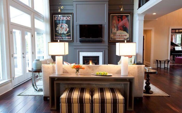 Интериор на хола от Emerald Hill Interiors