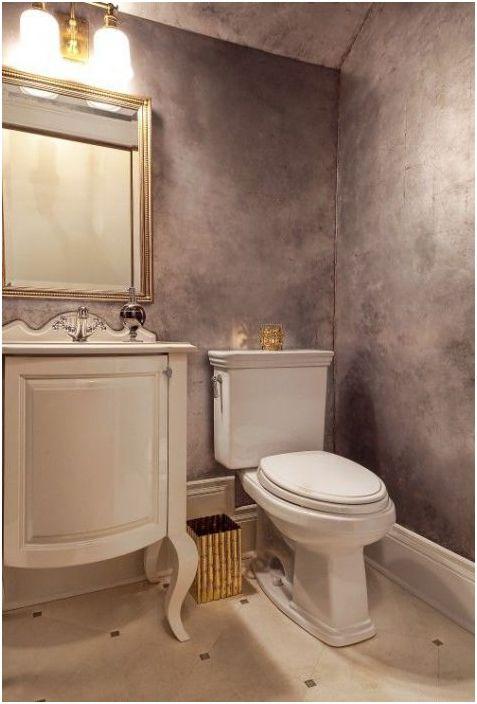 Tynk dekoracyjny we wnętrzu łazienki